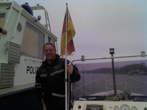 Polizeikontrolle auf dem Wasser